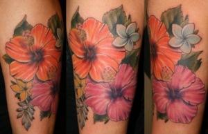 Lotus Japanese flower tattoos represent estranged adore and yearning.