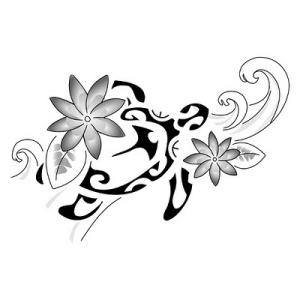polynesian flower tattoo, maori tattoo designs