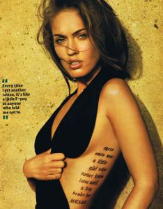 Labels: megan fox tattoo, Megan Fox