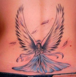 Trendy Angel Tattoo Designs - Angel Wing Tattoos