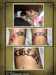 Usually, couples that are dating or married like this type of tattoo font.