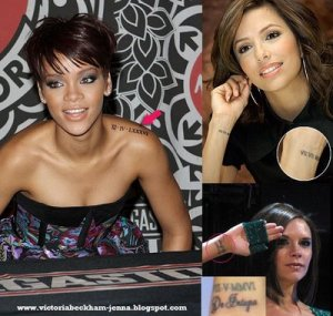Victoria's Roman numeral tattoo of the date she and hubby David renewed
