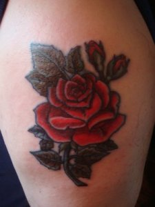 arm rose tattoo designs