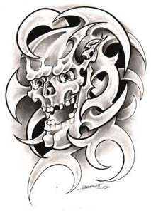 This Skull Tribal Tattoos has good traction. Tribal Tattoos are usually form