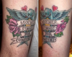 Mother tattoo tattoo pictures online for Fish vagina tattoo