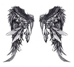 Angel Wing Tattoo Designs for Girls