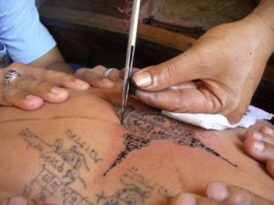 Tattoos are still applied in the same way they have been for thousands