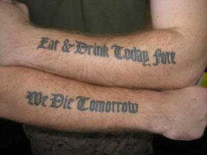 In case a tattoo design fuses picture art with lettering, it will look best