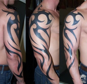 Tribal Arm Tattoos For Men-1 Tribal arm tattoos for men are probably one of