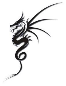 simple tribal dragon tattoo design. simple tribal dragon tattoo design