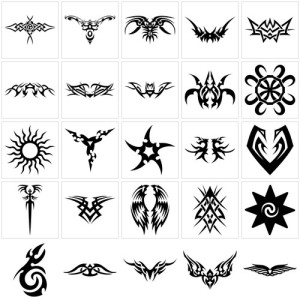 Labels: tribal tattoo symbols design