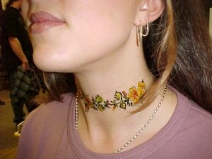 Tribal Neck Tattoo ideas for girl. Posted by TRIBAL TATTOOS DESIGNS GALLERY