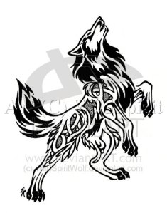 Another type of wolf tattoo which captured the interest of many is the
